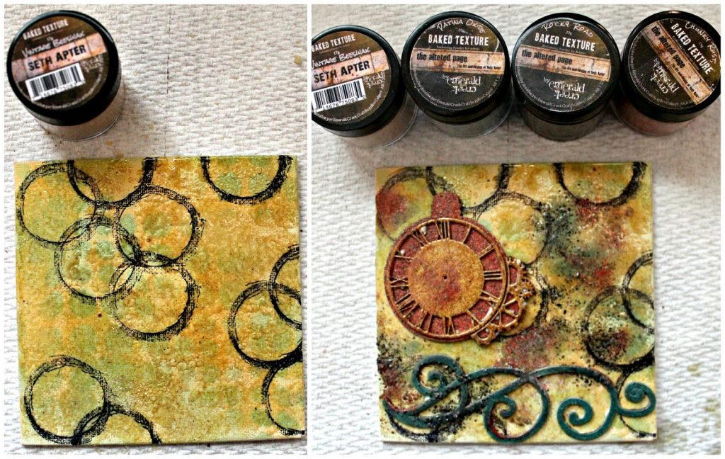 Mixed Media Canvas designed by Pam Bray featuring Emerald Creek Craft Supplies and Ranger | Creative Scrapbooker Magazine
