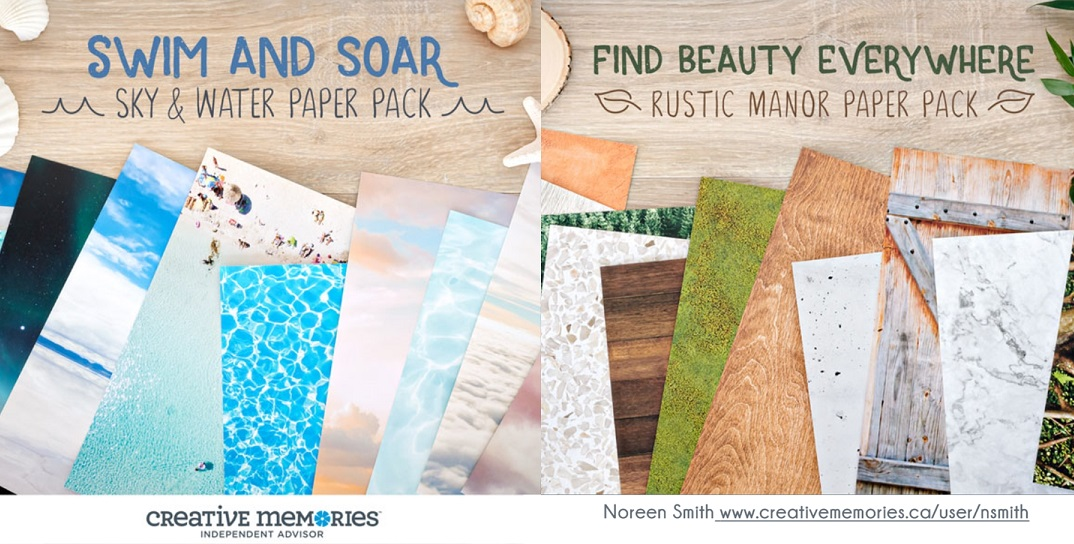 Creative Memories Swim and Soar and Find Beauty Everywhere Scrapbooking Collections by Creative Memories