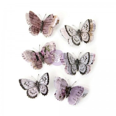 Prima Marketing Lavender Aislinne Vellum Butterfly Flowers | Creative Scrapbooker Magazine