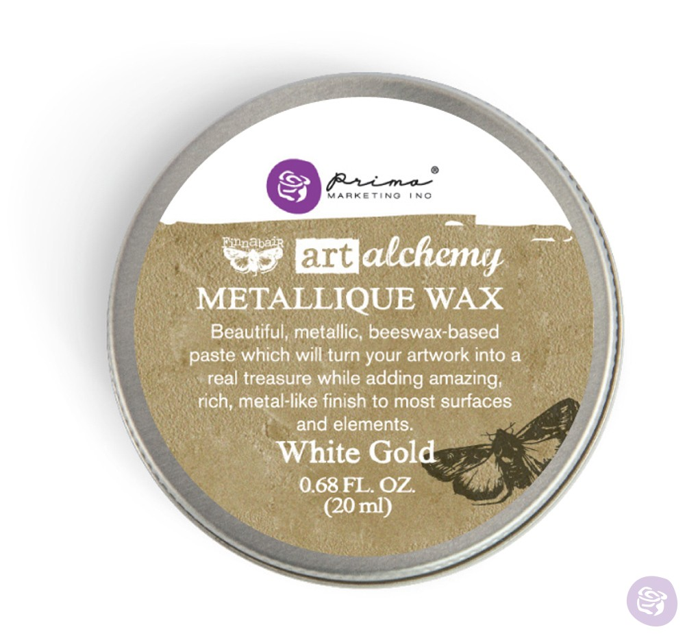 Prima Marketing Art Alchemy White Gold Metallic Wax