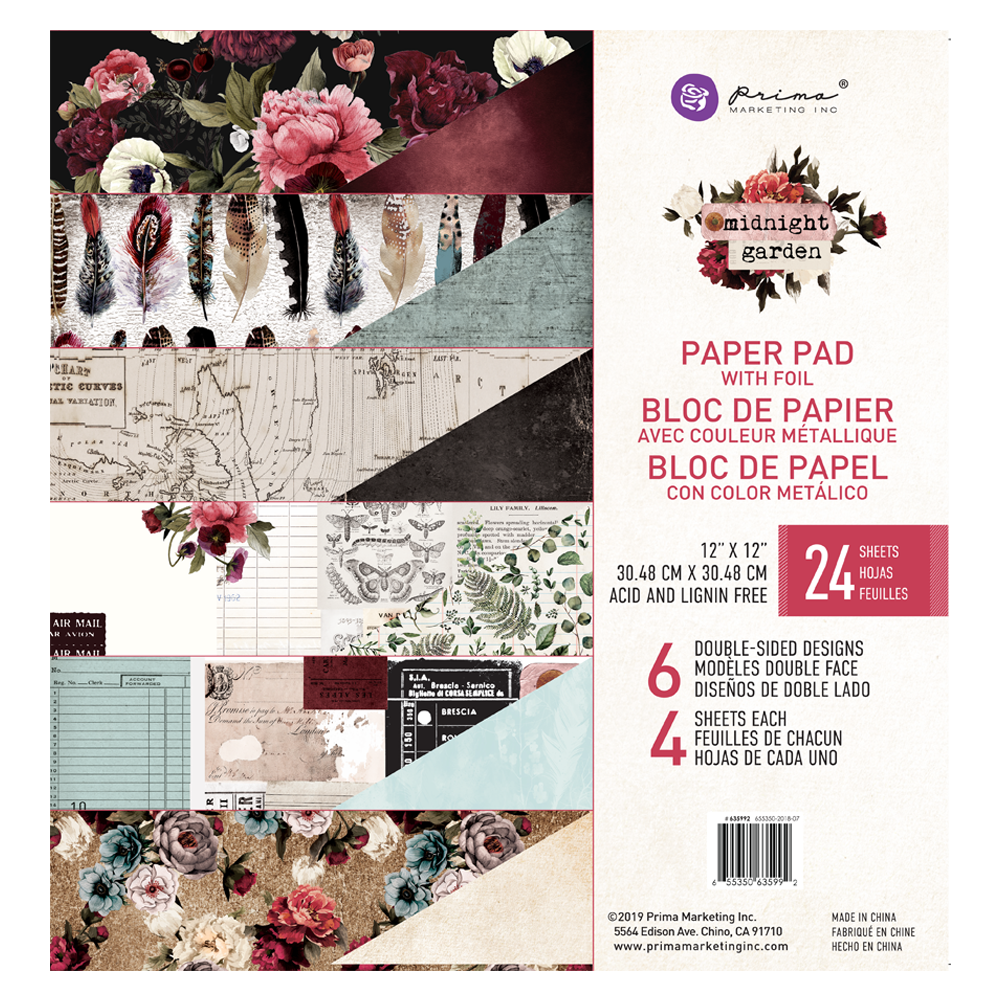 Prima Marketing Midnight Garden Collection | Creative Scrapbooker Magazine