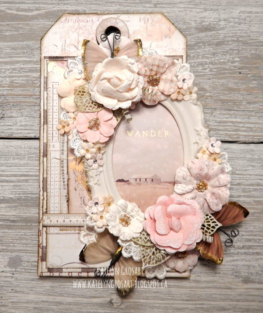 Scrapbook Tag featuring Spring Farmhouse Collection by Prima Marketing designed by Katelyn Grosart | Creative Scrapbooker Magazine
