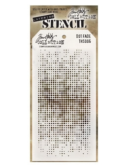 Stampers Anonymous Tim Holtz Fade Dot Stencil | Creative Scrapbooker Magazine
