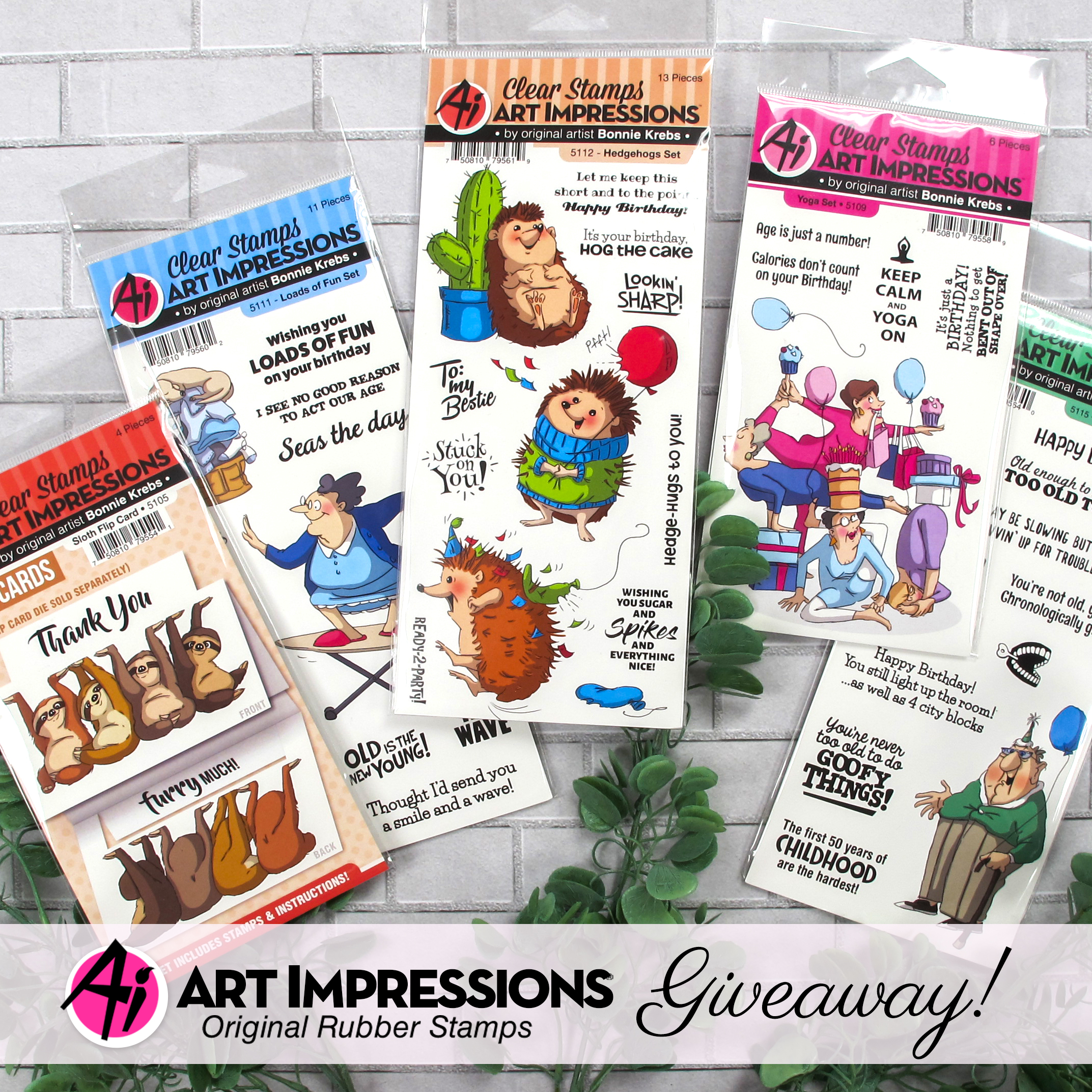 Art Impressions Clear Stamps Prize Package Giveway