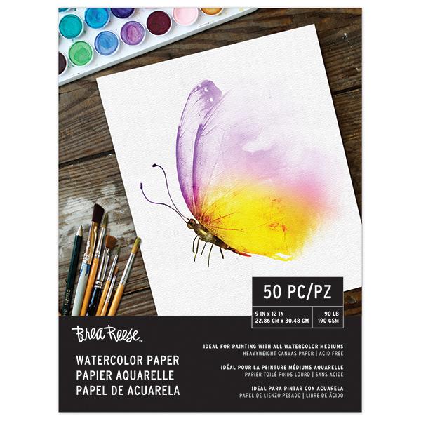 Brea Reese Watercolor Paper | Creative Scrapbooker Magazine
