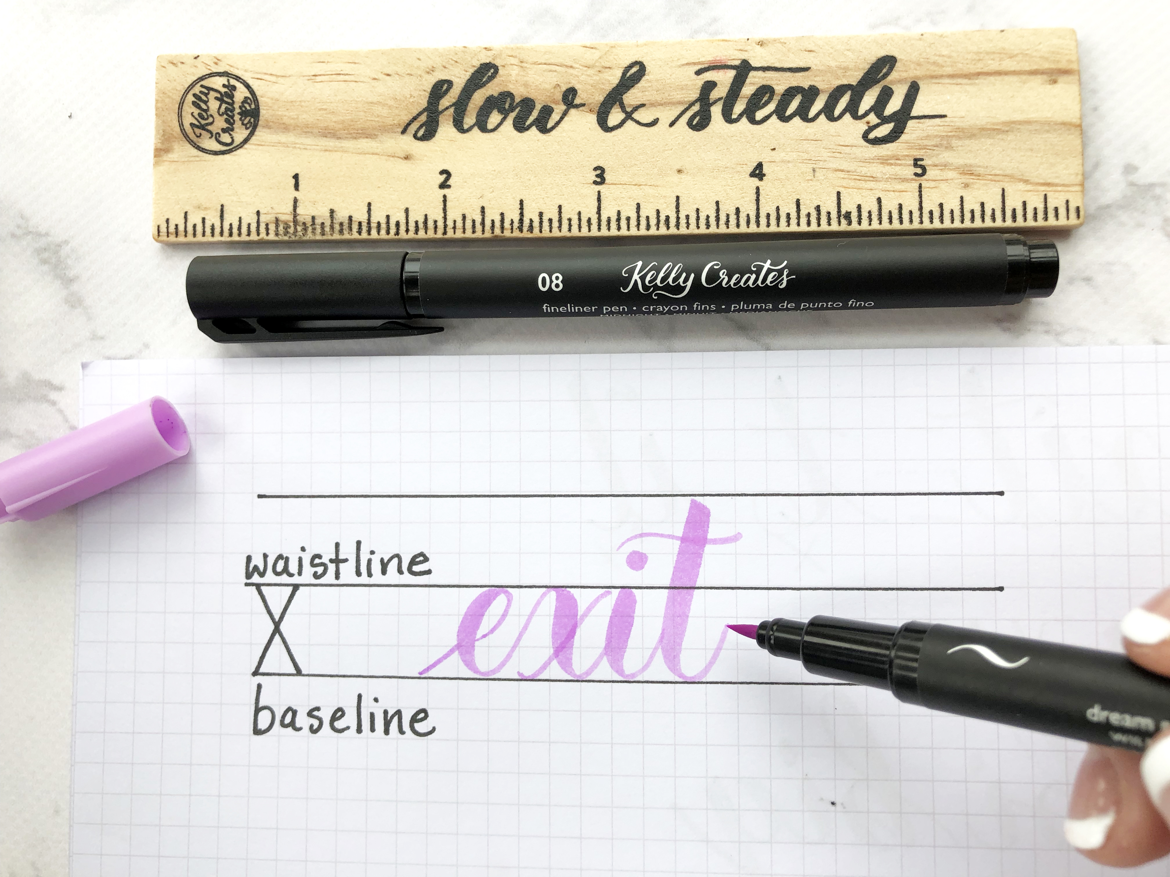 Calligraphy Tips with Kelly Klapstein from Kelly Creates