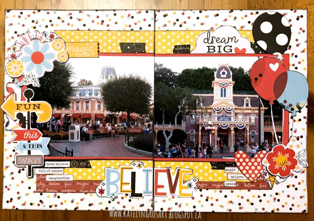 Disney themed Scrapbook Layout featuring Simple Stories Designed by Katelyn Grosart