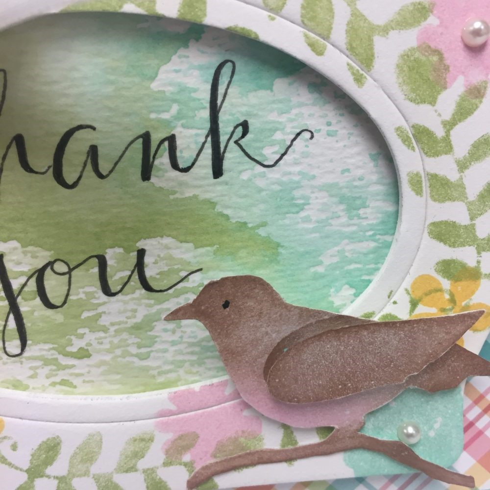 Detail picture of a Thank You Card designed by Eileen Hull | Creative Scrapbooker Magazine