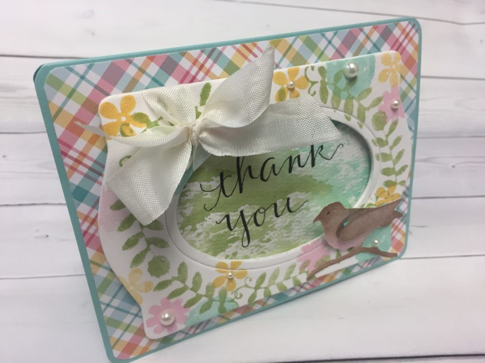 Thank You Card Designed by Eileen Hull | Creative Scrapbooker Magazine