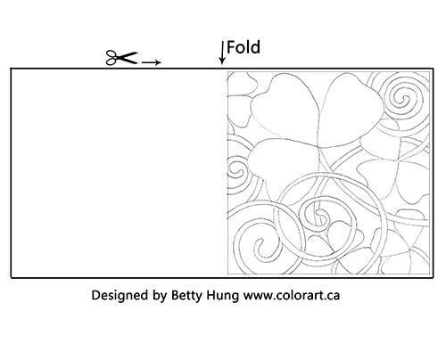 Free March Coloring Card Designed by Betty Hung | Creative Scrapbooker Magazine
