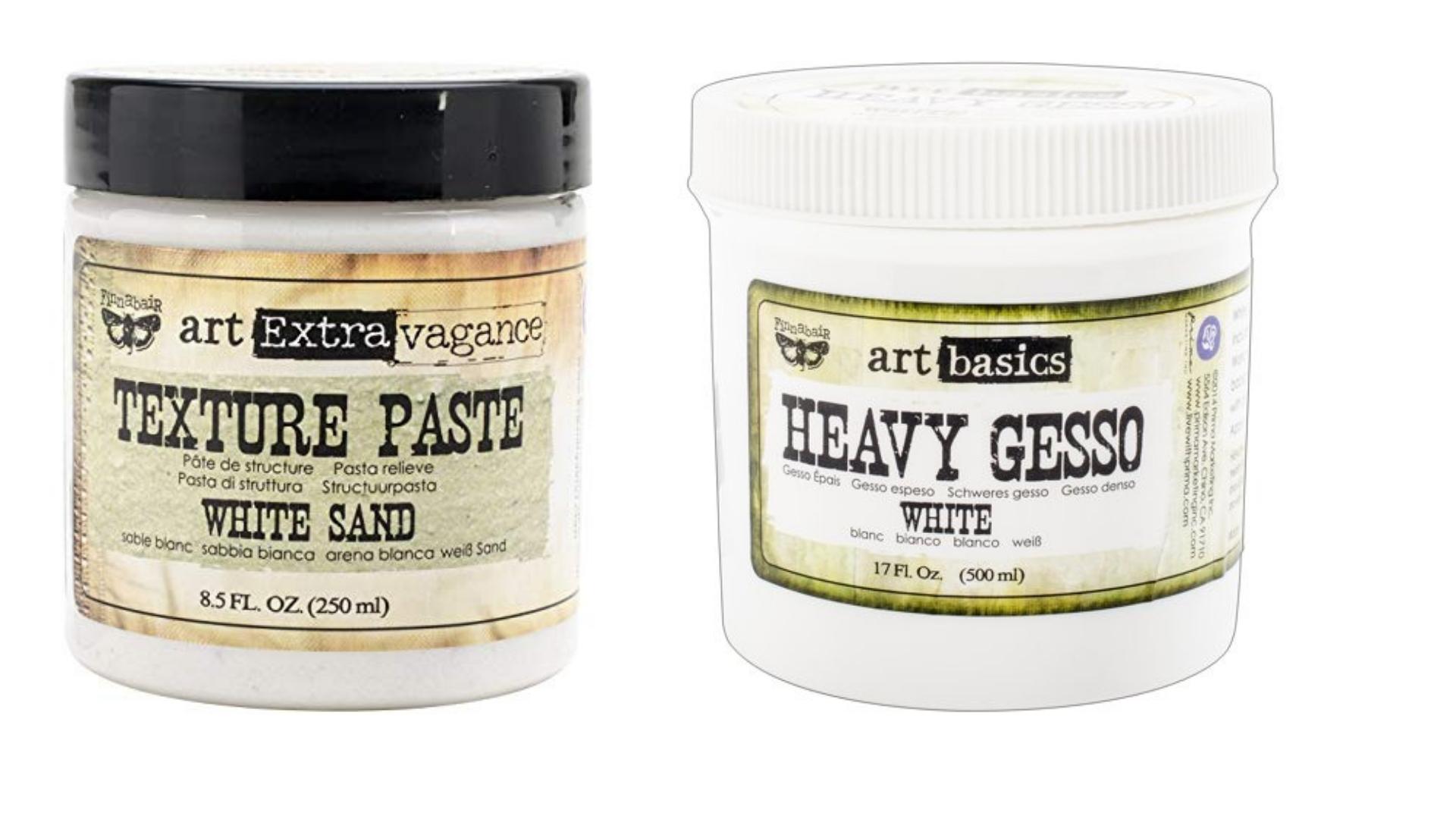 Prima Marketing Texture Paste and Heavy White Gesso
