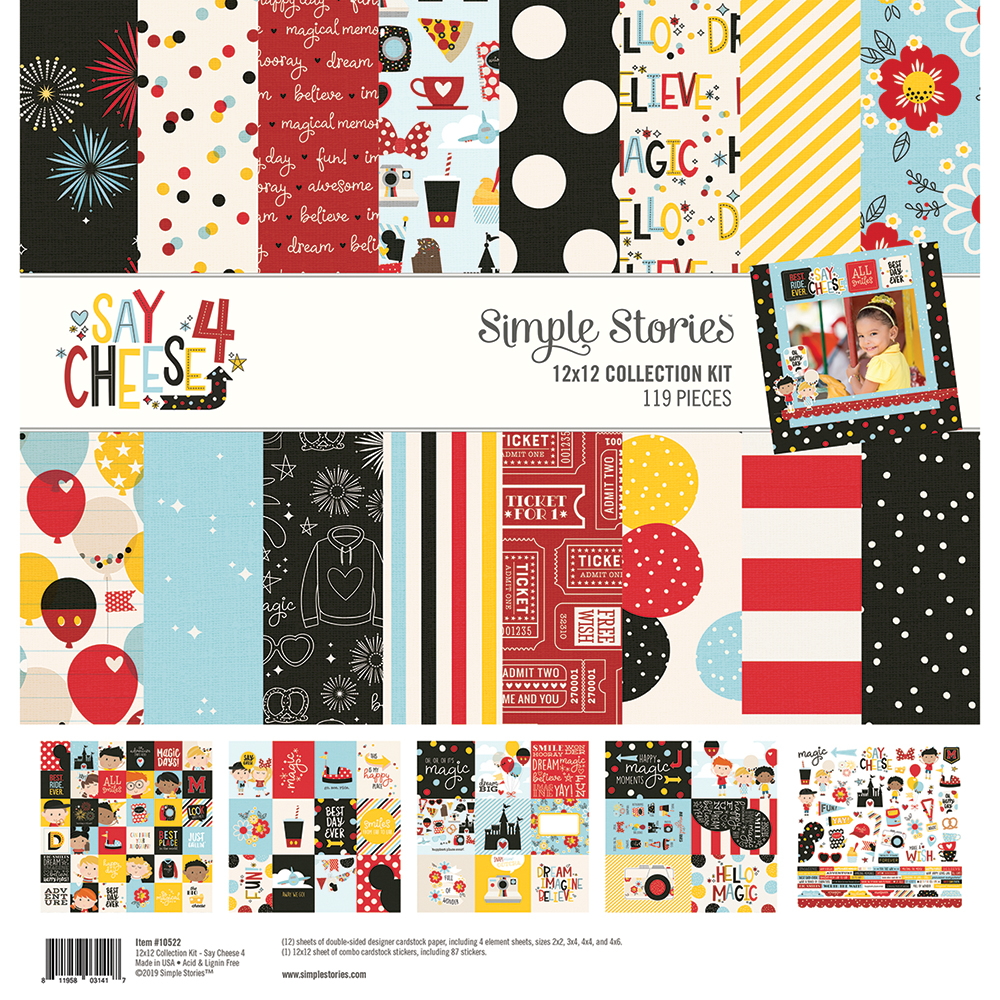 Simple Stories Say Cheese Collection 4 Scrapbook Kit