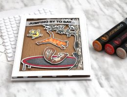 Scrapbook Card Featuring Simon Hurley Create stamps and Scrapbook Adhesives by 3L