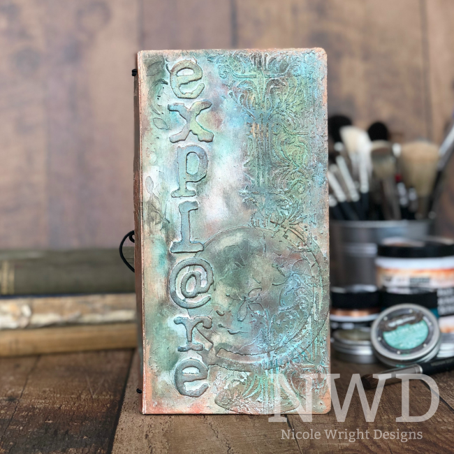 Travellers Journal designed by Nicole Wright featuring Prima Marekting