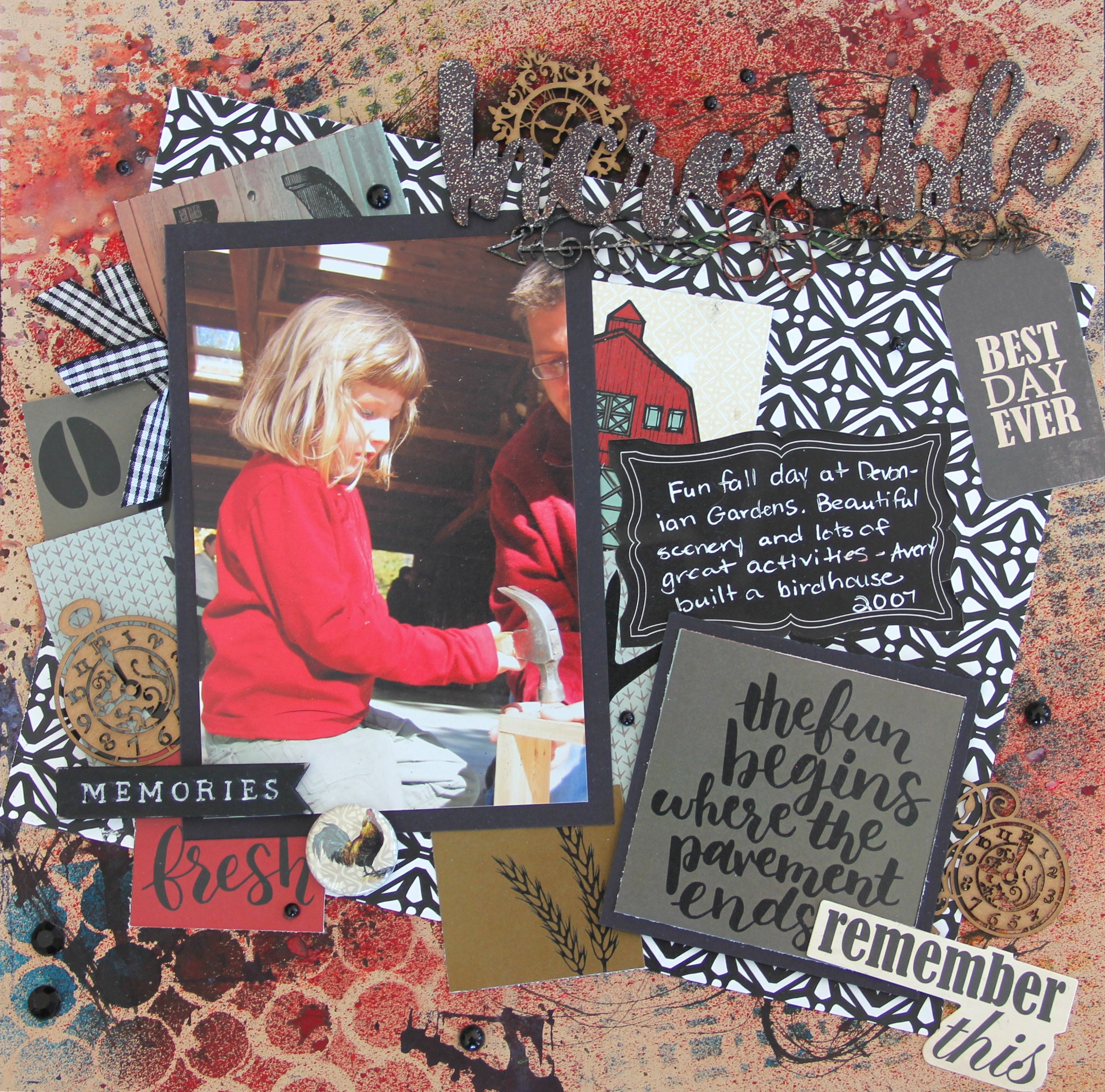 Scrapbook Layout featuring Wild Whisper Designs designed by Jayme Loge | Creative Scrapbooker Magazine