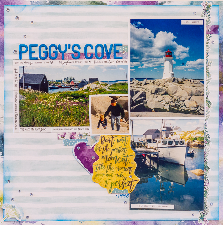 Sketchy Challenge / Creative Memories Secret Garden / Scrapbooking Peggy's Cove