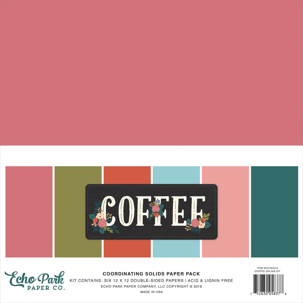 Echo Park Paper Co. Coffee Collection coordinating Cardstock