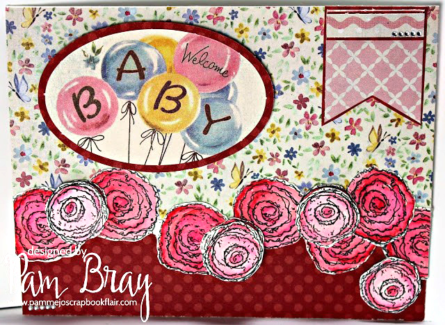 Baby Themed Scrapbook Card Designed by Pam Bray featuring Authentique