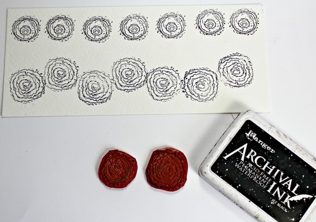 Blank Muse Scribble and Stamp stamp set and Ranger Archival Ink