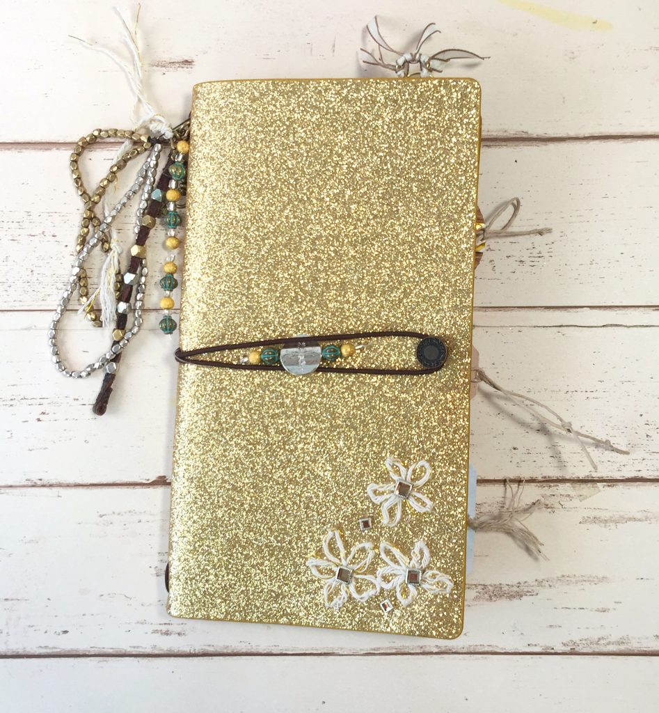 Gold Chunky Explorer Journal by Momenta designed by Kerry Engel