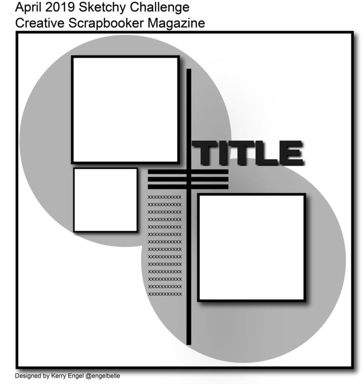 Scrapbook 12X12 Sketch | Creative Scrapbooker Magazine