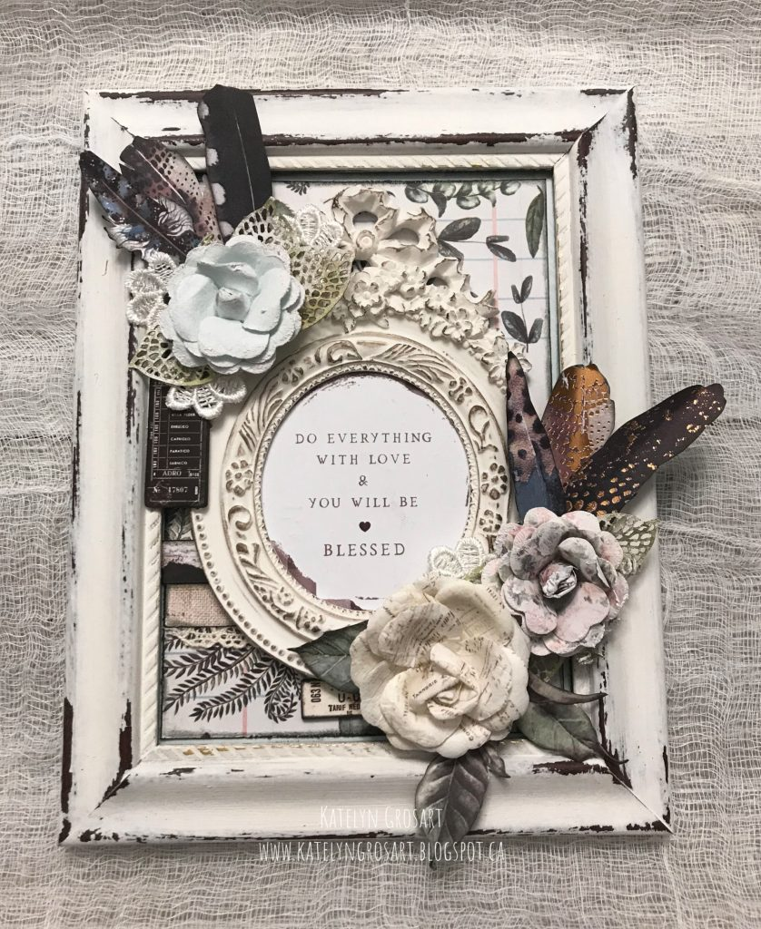 Vintage Altered Frame featuring Prima Marketing designed by Katelyn Grosart