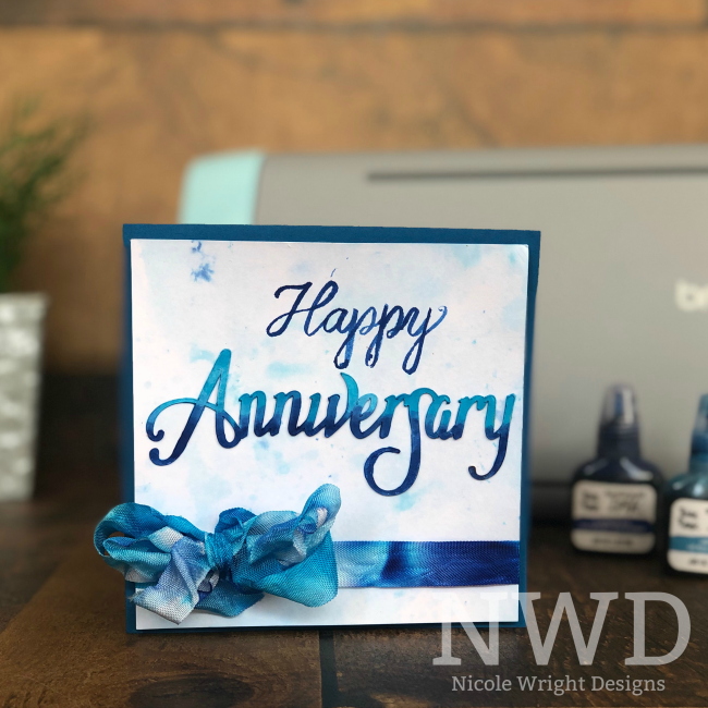 Anniversary Card designed with the Brother ScanNCut SDX125 by Nicole Wright