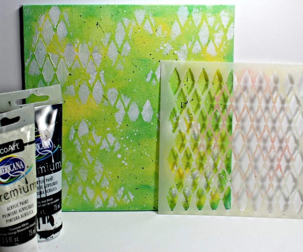 Canvas Step By Step Photos featuring Clearsnap ColorBox Blends 2 Inks and Blank Page Muse Stamps and Clearsnap Art Screens- Designed by Pam Bray