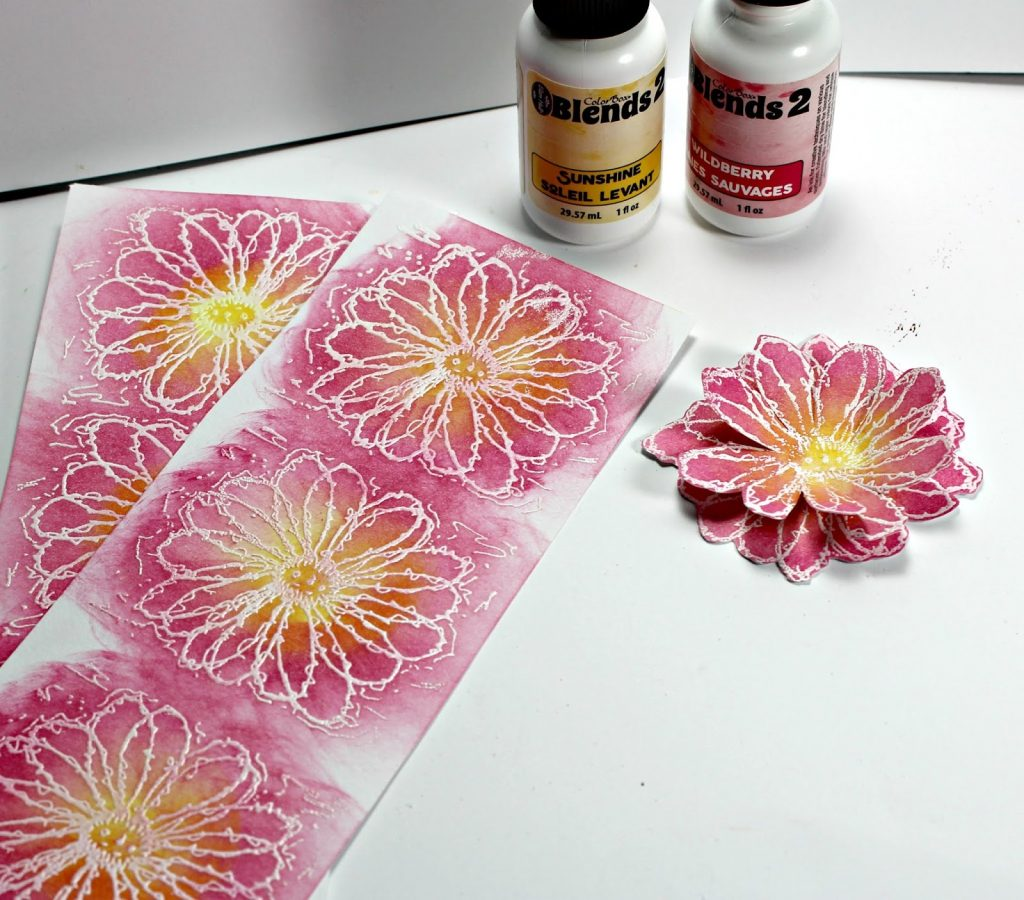 Blank Page Muse Stamps and Clearsnap ColorBox Blends 2 Inks