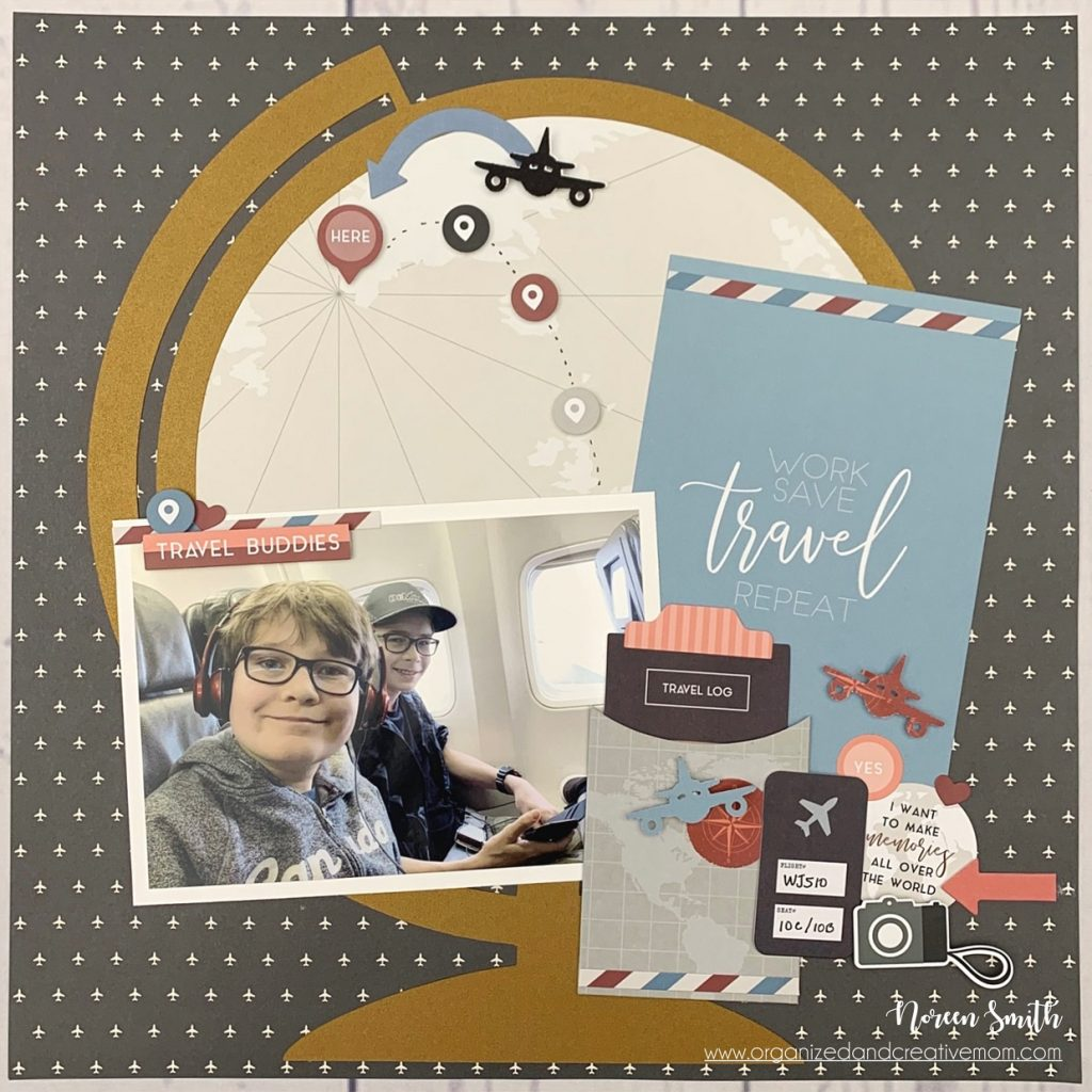 Scrapbook Layout Designed by Noreen Smith featuring the Travel Log Collection by Creative Memories