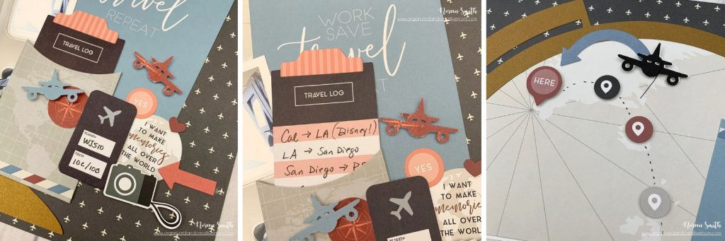 Details of a Scrapbook Layout featuring the Travel Log Collection by Creative Memories