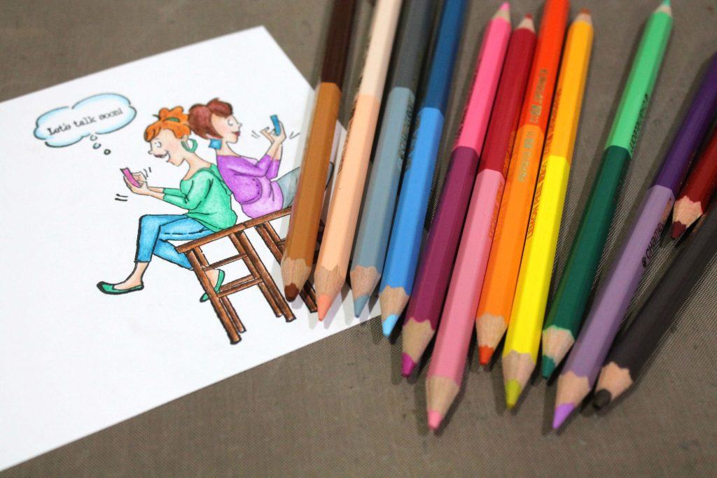 Coloring an Art Impressions Stamp with Chameleon Colored Pencils