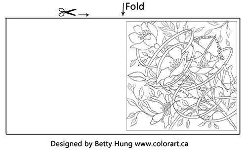FREE Coloring Card Designed by Betty Hung
