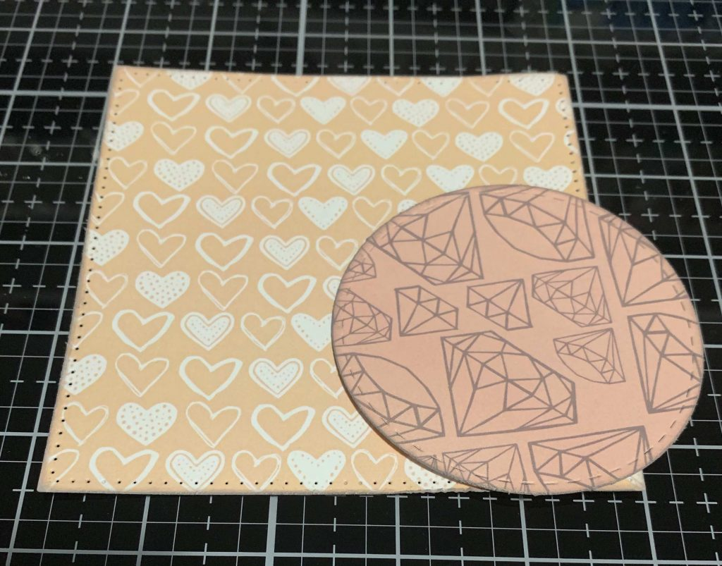 Shapes cut from Always & Forever patterned paper by Wild Whisper Designs using Elizabeth Craft Designs Stitched Squares and Circle dies