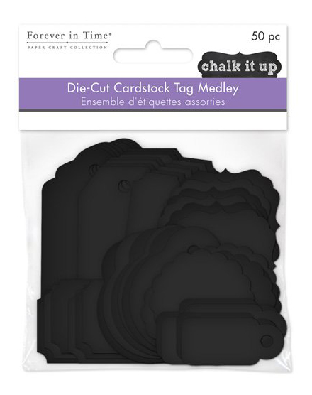 MultiCraft Forever in Time Cardstock Black Tags