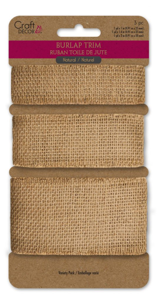 MultiCraft Craft Decor Burlap Ribbon