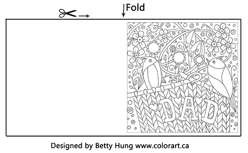 Fathers Day Coloring Card available for FREE download