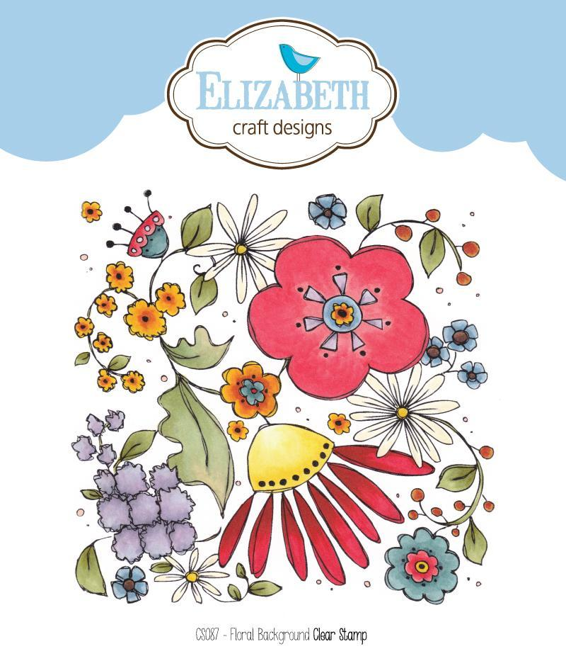 Elizabeth Craft Designs Floral Background Stamp
