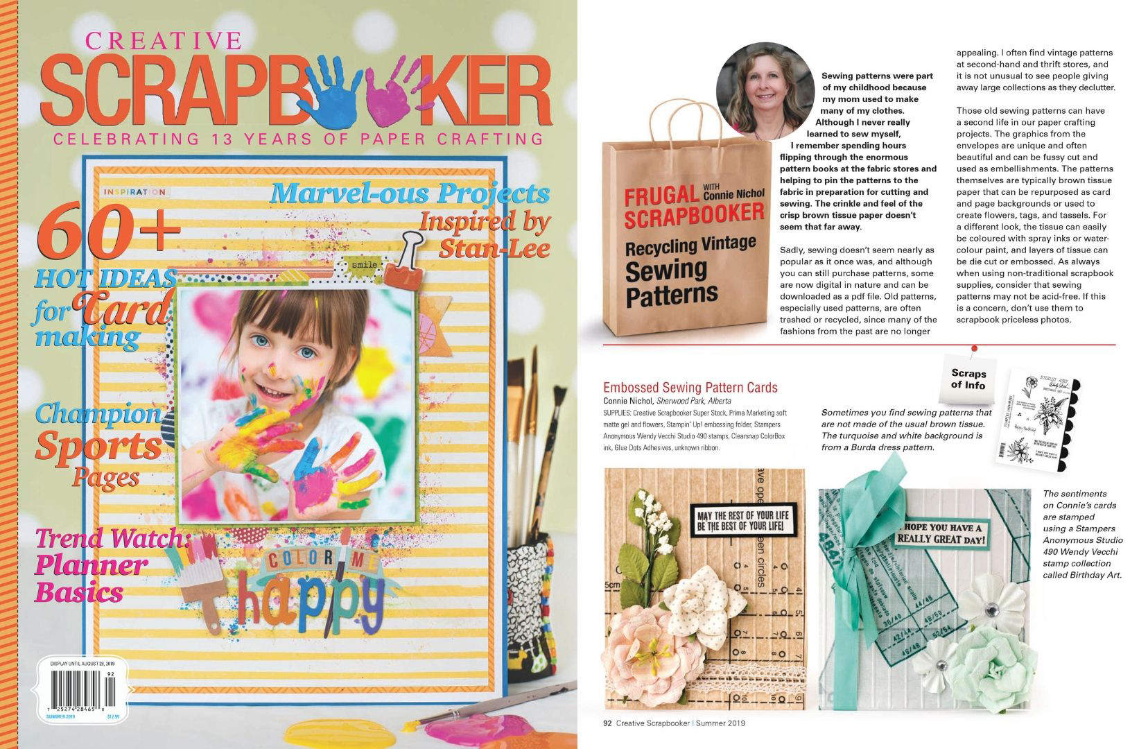 Frugal Scrapbooker Creative Scrapbooker Magazine Connie Nichol