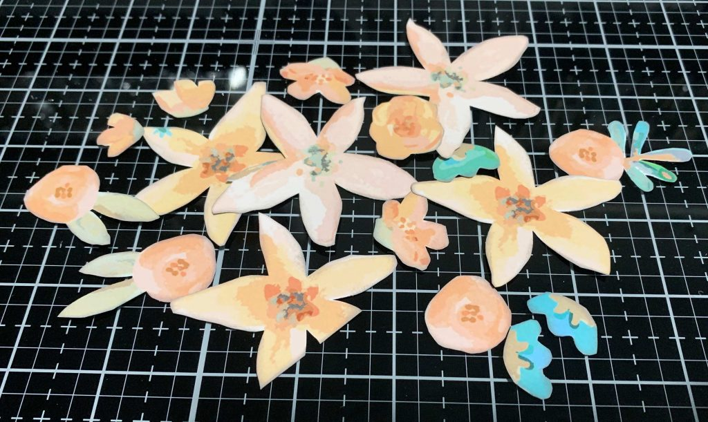 Fussy cut flowers from Forever & Always patterned paper by Wild Whisper Designs