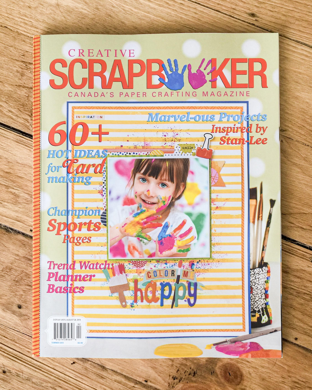 Summer issue of Creative Scrapbooker Magazine / June 2019