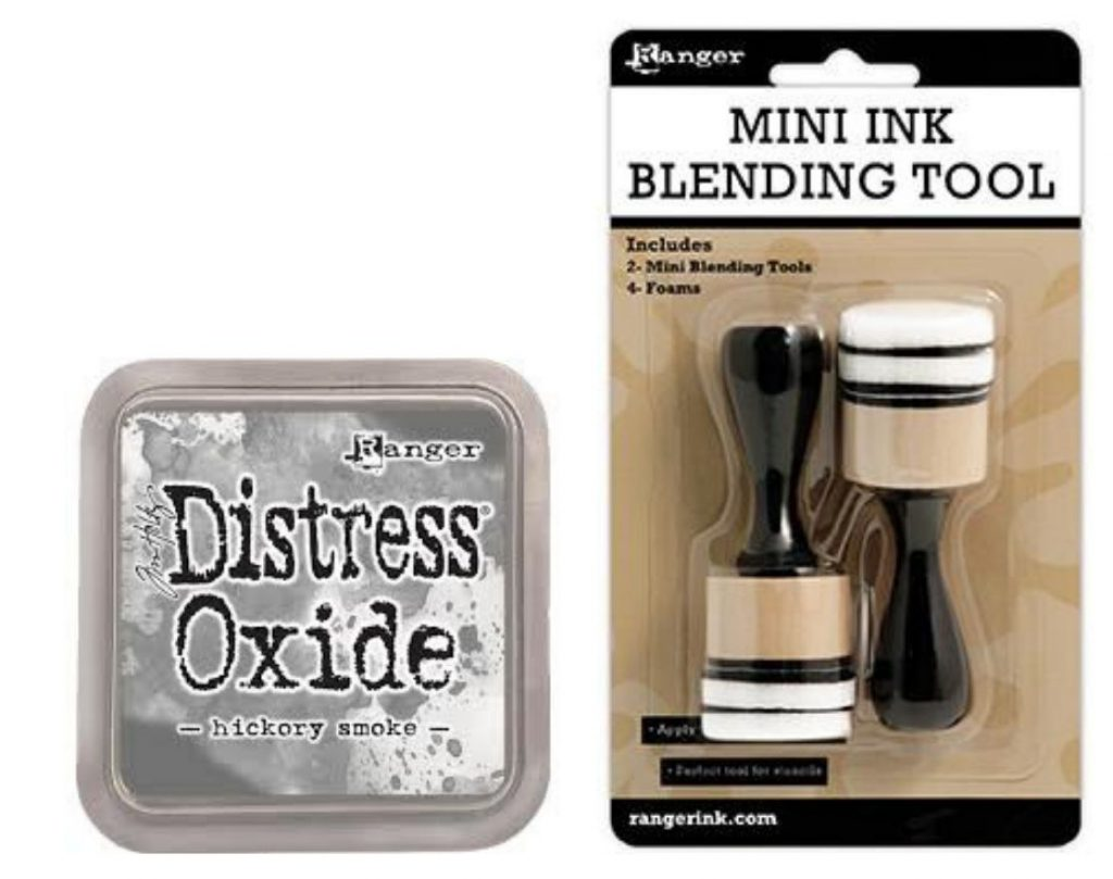 Ranger Distress Oxide Hickory Smoke ink and blending tool