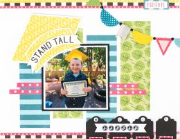 School Scrapbook Layout featuring Echo Park Paper Co. Summer Fun Collection designed by Tracy McLennon