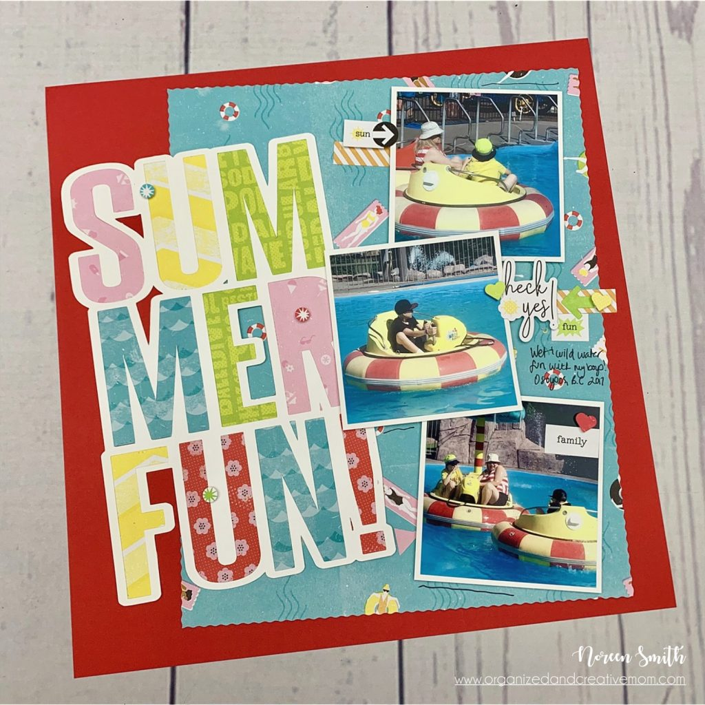 Scrapbook Layout featuring Citrus Summer collection by Creative Memories