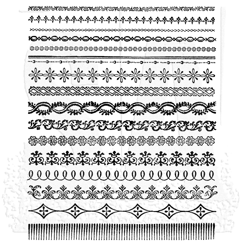 Stampers Anonymous Ornate Trims Tim Holtz Stamp Set