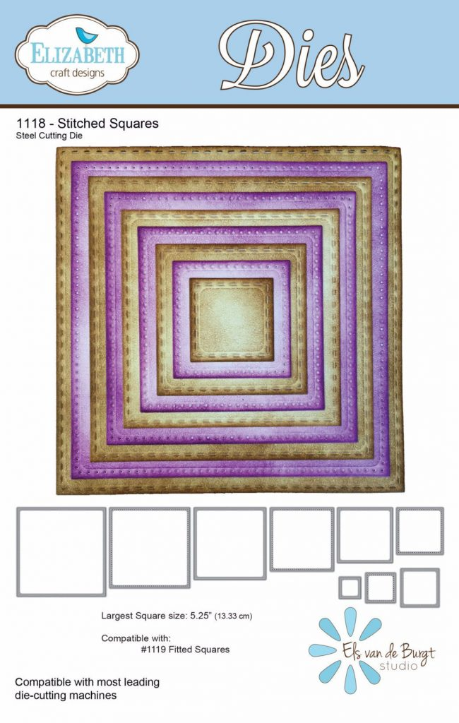Elizabeth Craft Designs Stitched Squares die