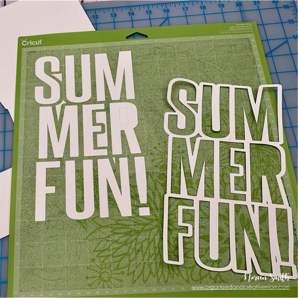 Summer Cut File cut out of Citrus Summer collection by Creative Memories