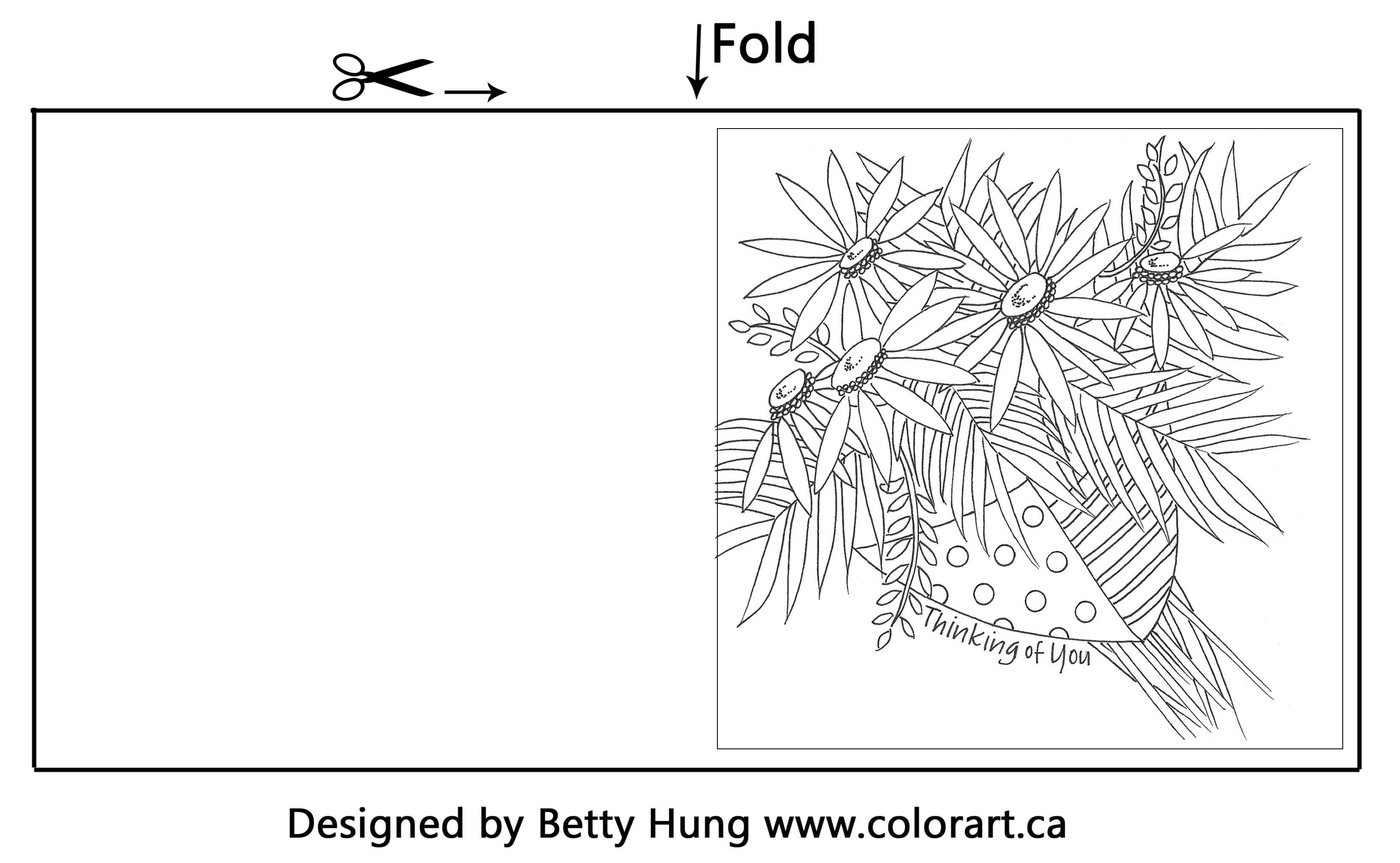 July free coloring card designed by Betty Hung