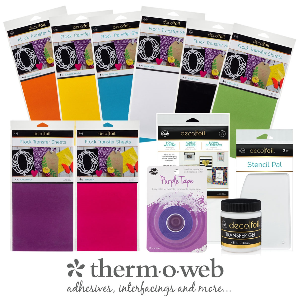 Therm O Web Giveaway Prize Package including Flock Transfer Sheets