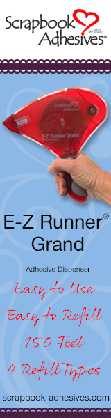 ez runner grand adhesive dispenser banner image with blue background